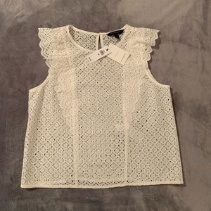 Banana Republic new with tags white lace top